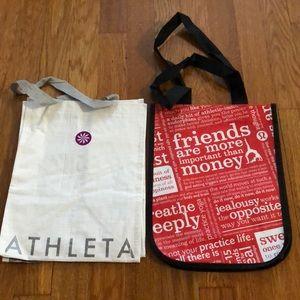 2 Athletic Tote Bags (Athleta & Lululemon)